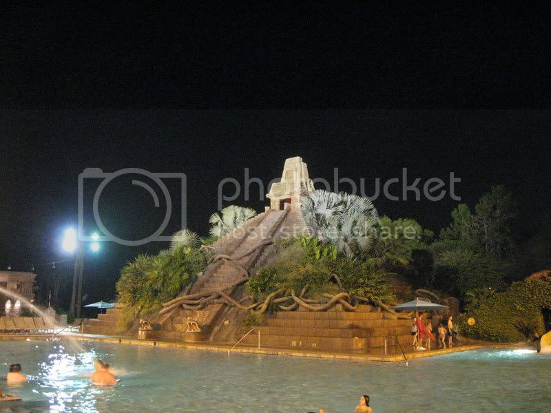 Mayan Pyramid Swimming Pool