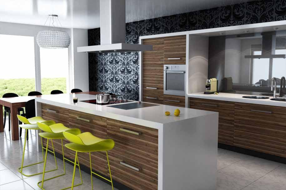 Desain Dapur Dan Ruang Makan Terbuka Desain Rumah Minimalis