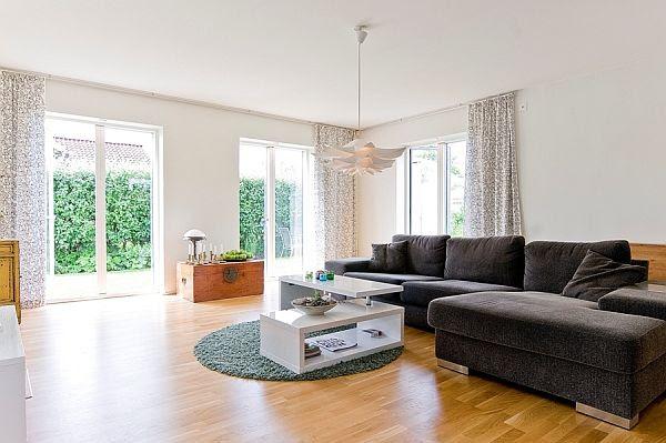 Stylish white interior design design