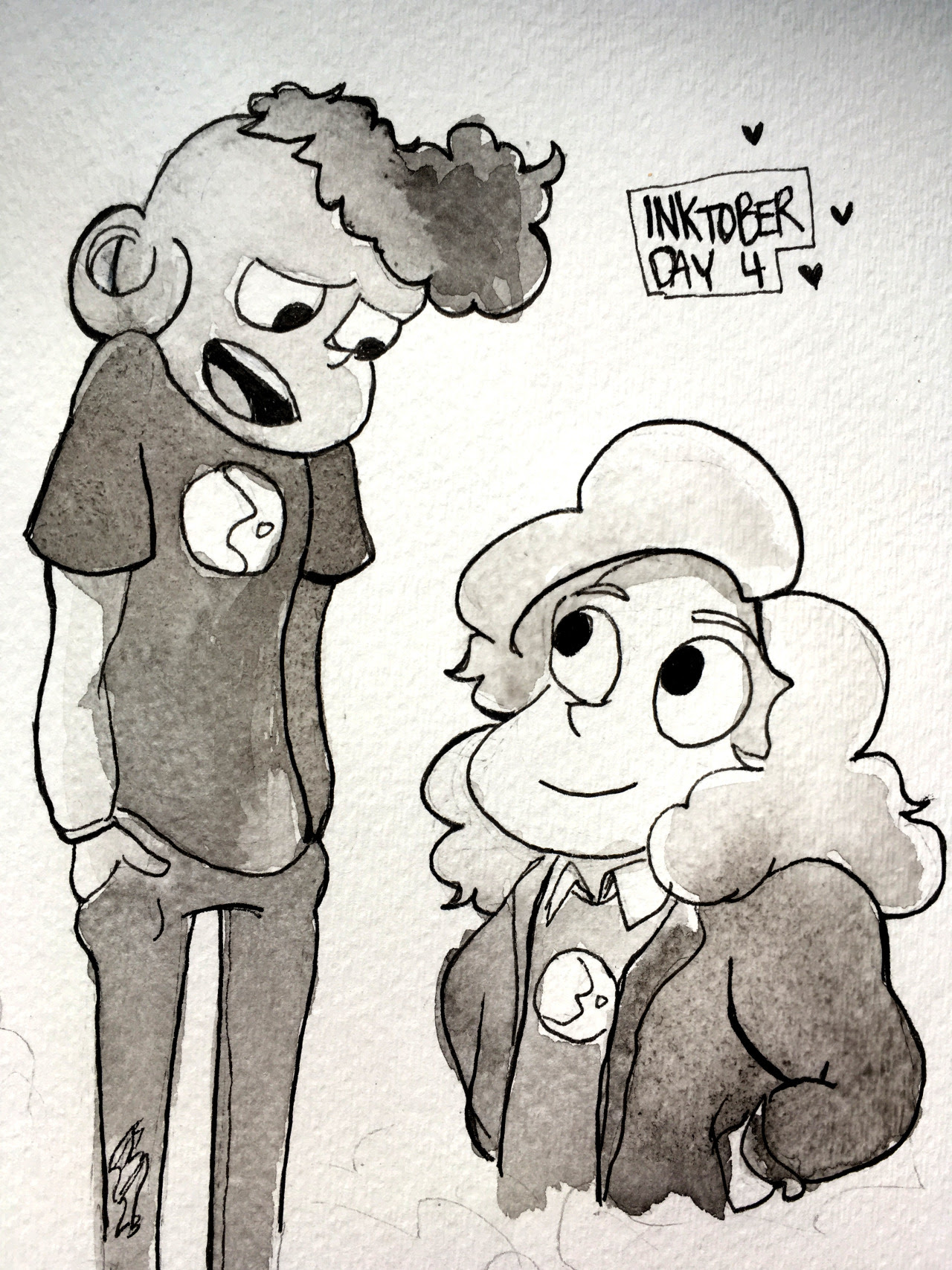 lars and sadie for inktober today!!!!!!