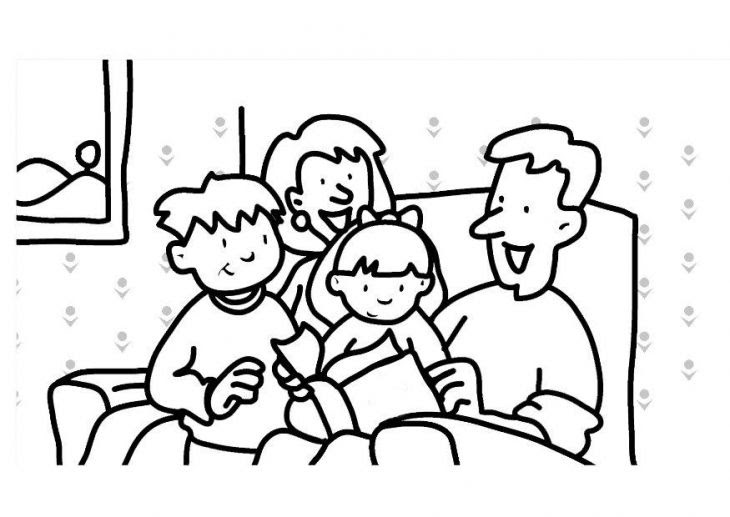 92 Top Coloring Pages Of A Family For Preschoolers For Free