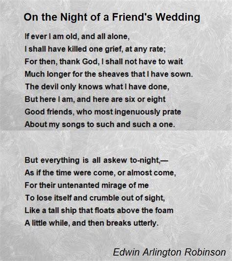 Friendship wedding Poems