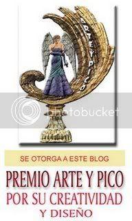 Prémio ARTE Y PICO concedido em 13.02.2008 por Graciela, do Blog Palomas de Papel