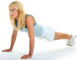 lady doing push-up