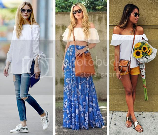 Off-The-Shoulder-Tops-blogger-Street-Style, how to wear the off the shoulder trend