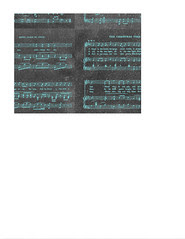 landscape A2 card size JPG Vintage GF Christmas Sheet Music chalkboard & turquoise LARGE SCALE