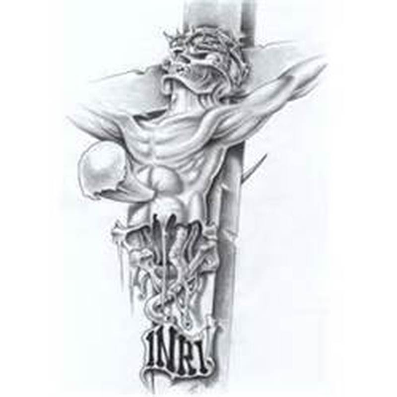 Inri Jesus Tattoo Design Tattoos Book 65000 Tattoos Designs
