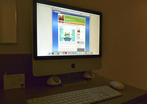 rashbre on the hotel iMac