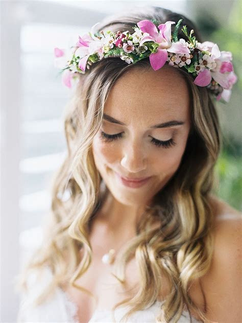 Wedding Hair Flower Crown   Fade Haircut