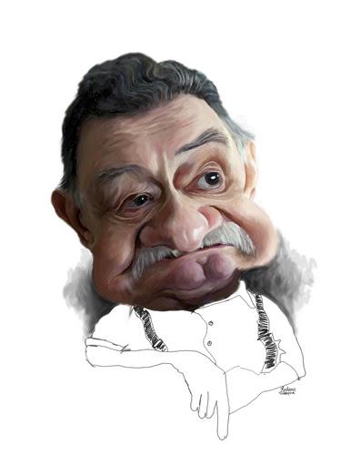 Dos desenhos animados: Mario Benedetti (médio) por Rocksaw marcado mario, Benedetti