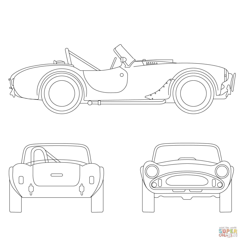 er sur la Ford Shelby Cobra coloriages pour visualiser la version imprimable ou colorier en ligne patible avec les tablettes iPad et Android