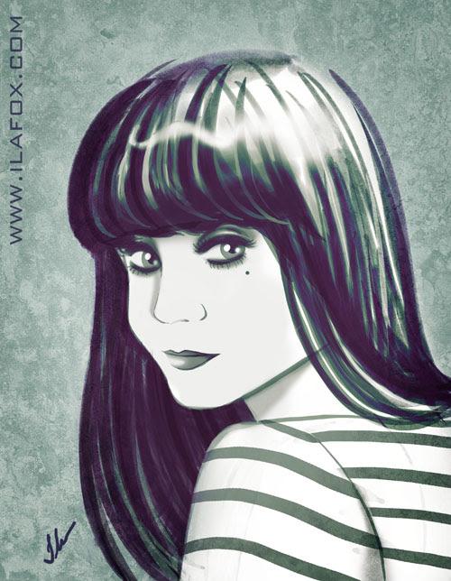 Mulher de franja, ilustração Ila Fox