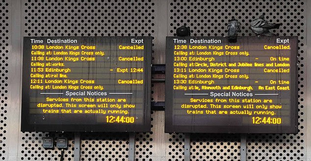 Cancellations: The report found that when work near King's Cross overran the trains were switched to start and finish at Finsbury Park station but 'not enough was done' to manage passenger flow at the new station