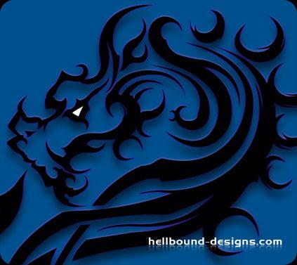 tribal tattoo dragon. black dragon tribal tattoos
