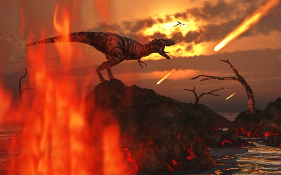Impactors strike during the reign of the dinosaurs (image credit: MasPix/devianart)