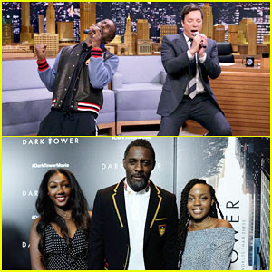 Idris Elba Brings Daugther Isan to 'Dark Tower' NYC Premiere, Plays 'Google Translate' Songs on 'Tonight Show'!