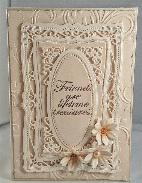 Handmade birthday card using spellbinders dies. Flowers