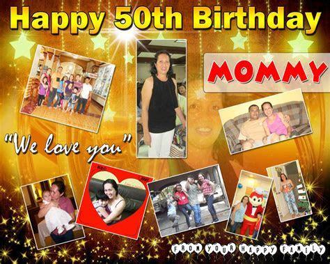 Golden 50th Birthday Celebration Tarp Design   Cebu