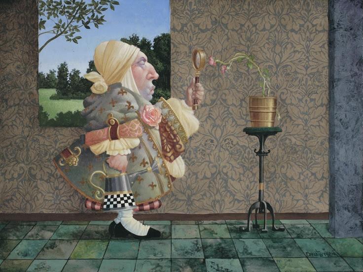 James Christensen - The Horticulturalist Original Oil Painting