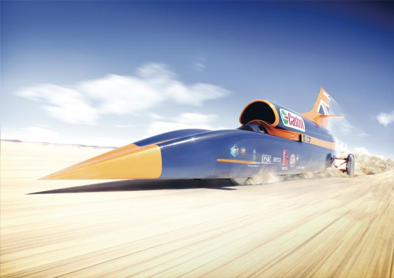 El cohete deberá generar una potencia equivalente a 50.000 caballos de fuerza para alcanzar el récord de velocidad.
