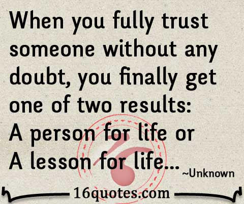 Quotes About Trusting Other People 51 Quotes