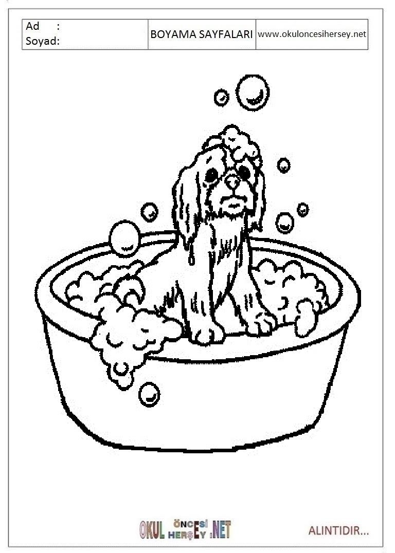 Küvet Banyo Boyama Sayfaları