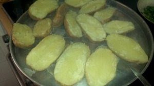 Potato halves