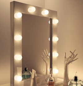 ideas decor for teen vanity with lighted mirror. Black Bedroom Furniture Sets. Home Design Ideas