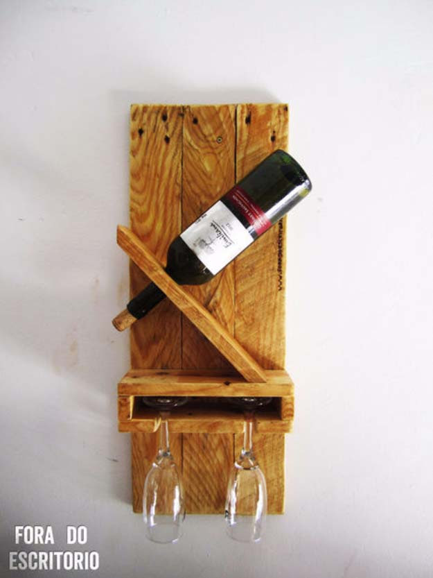 DIY Gifts for Your Parents | Cool and Easy Homemade Gift Ideas That Mom and Dad Will Love | Creative Christmas Gifts for Parents With Step by Step Instructions | Crafts and DIY Projects by DIY JOY  |  DIY Wine Rack Perfect for Mom and Dad  | http://diyjoy.com/diy-gifts-for-mom-dad-parents
