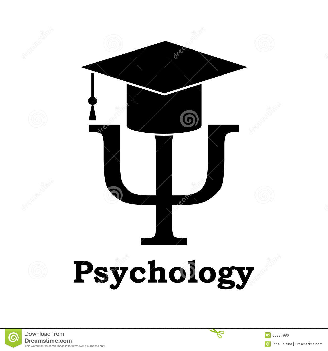 psychology learning black psi letter graduation hat white 50884986