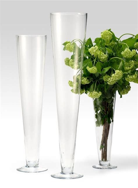 15in & 24in Glass Trumpet Vases in 2019   Wedding Floral