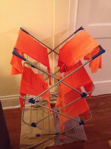 Drying my tie dye