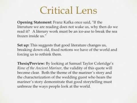 how to write a critical lens essay group