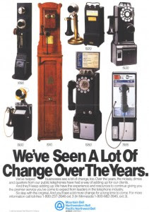 Public telephones from 1890 to 1985