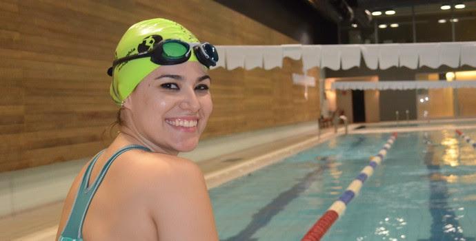 Danielle Nobile nada três vezes por semana (Foto: Cleber Akamine)