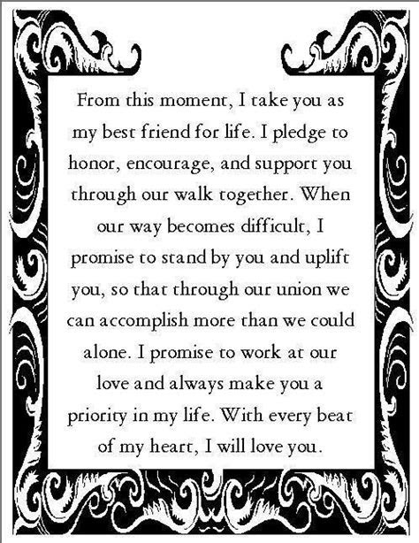 Romantic Wedding Vows Examples For Her and For Him   Vows