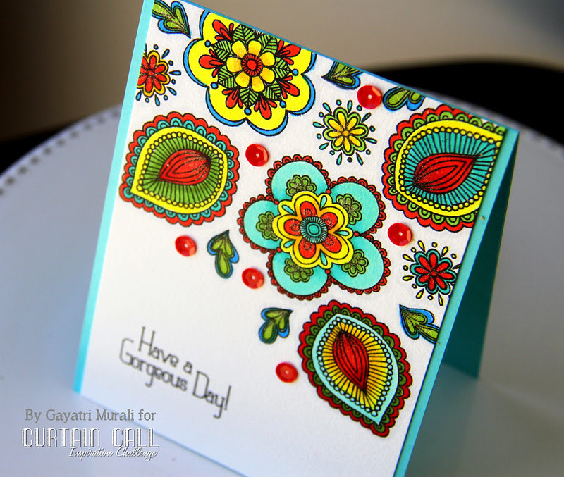Have a gorgeous Day card closeu