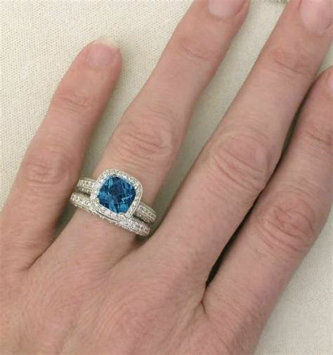 Vintage London Blue Topaz Engagement Ring (GR 6109)