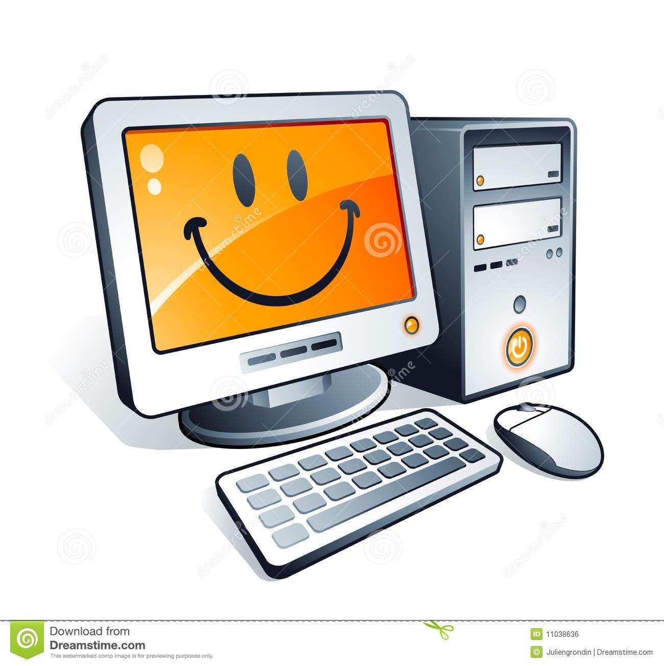 Happy Computer Clip