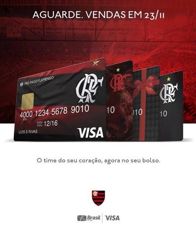 Cartões do Flamengo têm bandeira Visa (Foto: Reprodução)