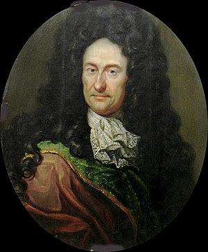 Gottfried Wilhelm Leibniz, um 1700, Öl auf Holz