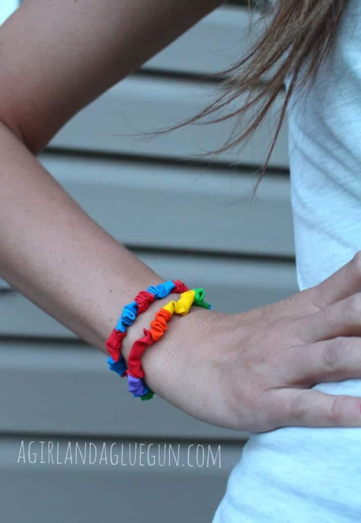 balloon bracelet summer kids craft