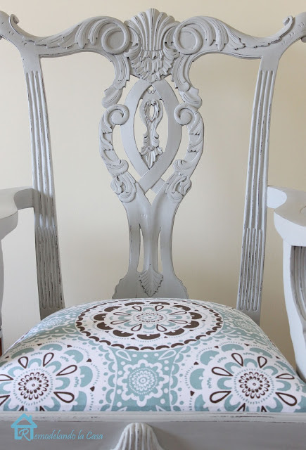 Painted Chippendale chair via The Scoop link party