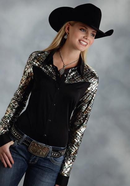 "womens western show shirt  ""quickdraw"""