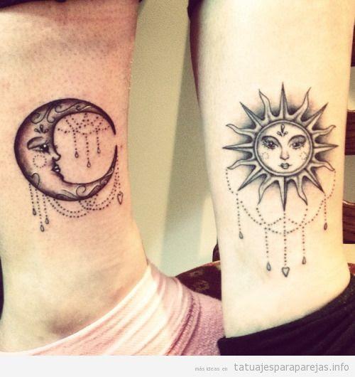 Tatuajes En Pareja De La Luna Y El Sol Tatuajes Para