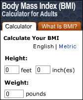 bmi calculator widget