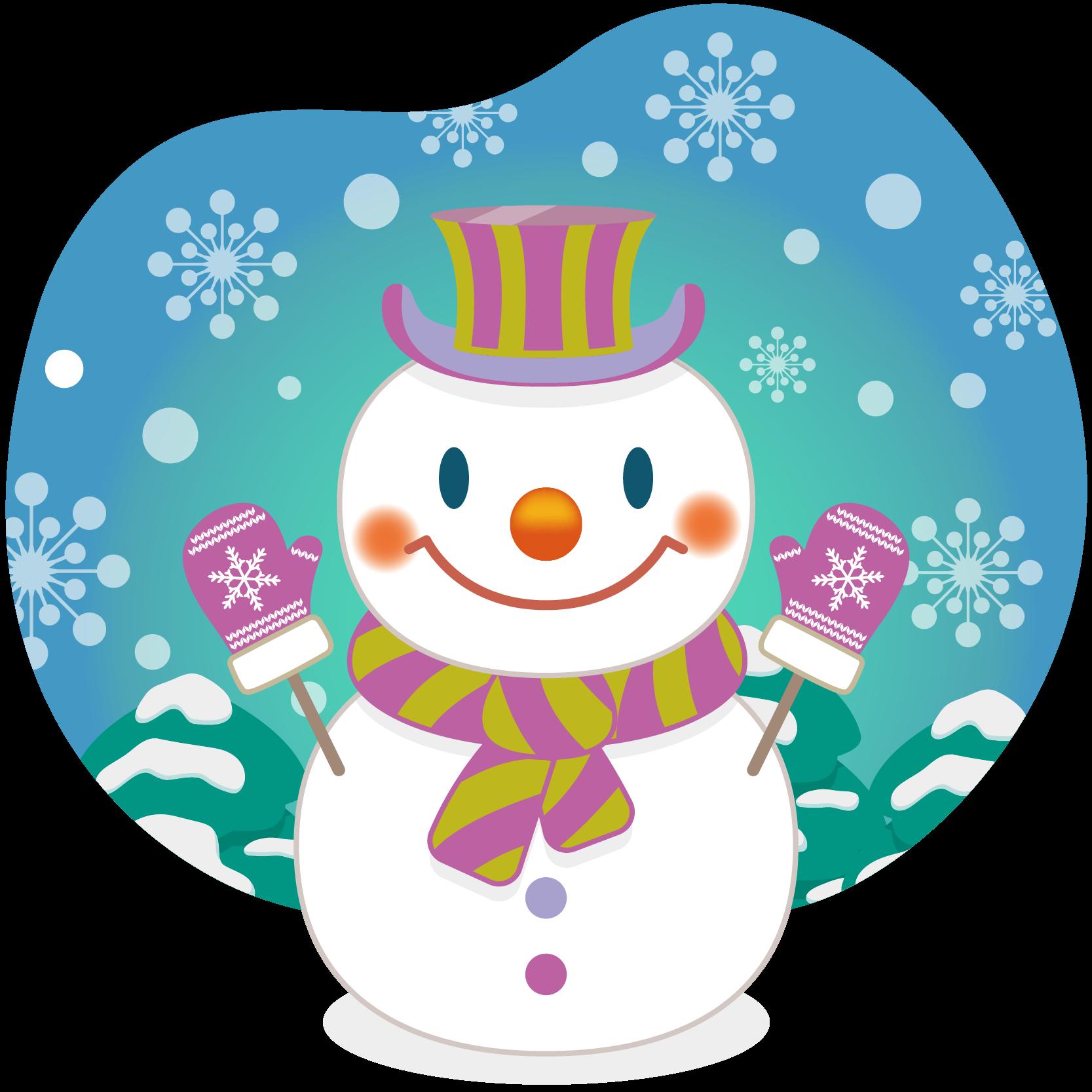 商用フリー 無料イラスト クリスマス スノーマン 雪だるま 雪背景 Snowman 007 商用ok フリー素材集 ナイスなイラスト