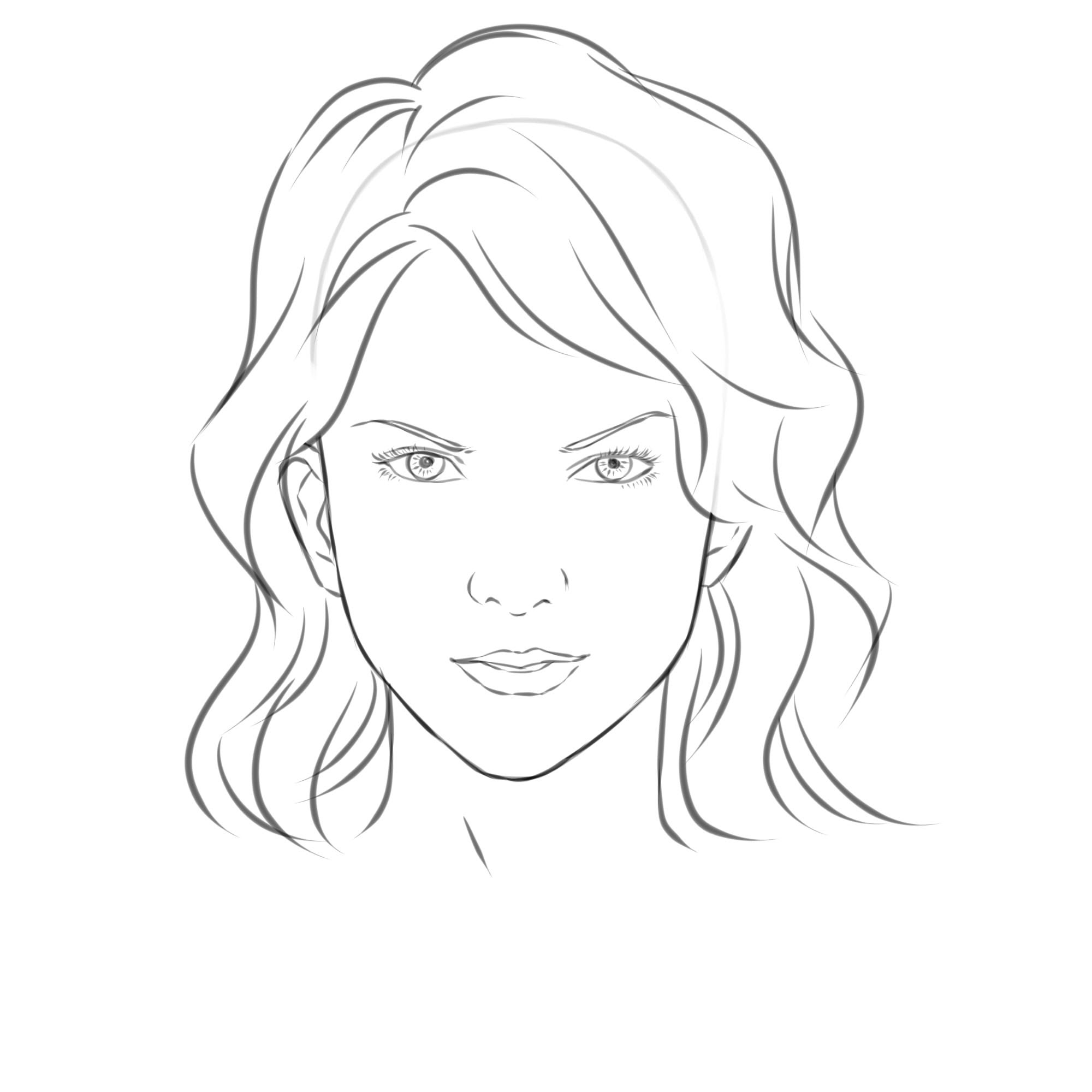 2000x2000 Draw a Girl#39s Face Face drawings, Female faces and Drawings