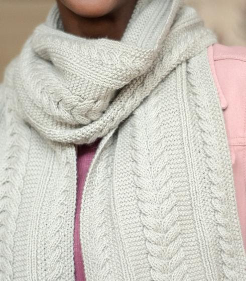 Aran Reversible Scarf - Knitting Pattern