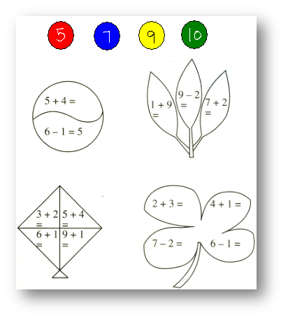 worksheet on add and subtract 1 digit number
